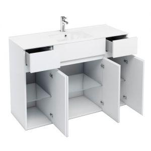 Image for Britton Cabinets 1200mm Ceramic Basin Vanity Unit White D450 Range - D42W.C1245.D41WX2