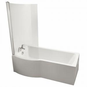 Image for Ideal Standard Tempo Arc 1700mm x 800mm Left Hand Shower Bath No Tap Hole, IdealForm Bath
