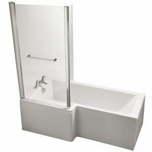 Image for Ideal Standard Tempo Cube 1700mm x 800mm Left Hand Shower Bath No Tap Hole, IdealForm Plus Bath