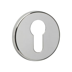 Image for Urfic Easy Click Round Euro Escutcheon Polished Nickel