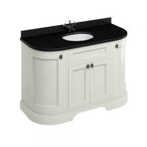 Image for Burlington Freestanding  Black  &  Sand Vanity Unit with Doors - 134cm