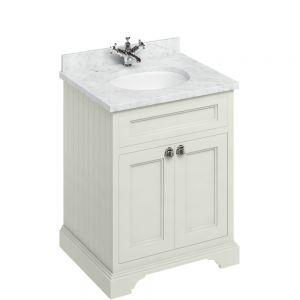 Image for Burlington Floorstanding 650mm Bathroom  Sand & Carrara White Vanity Unit