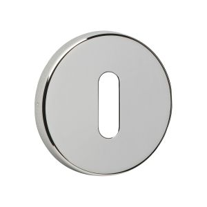 Image for Urfic Easy Click Round Standard Key Escutcheon Polished Nickel