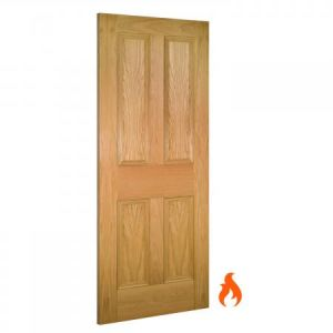 Image for Deanta Kingston Interior Oak Fire Door -