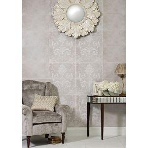 Image for Laura Ashley Josette Dove Grey Decor Part B 298mm x 498mm Wall Tile 6 Per Pack - LA51614