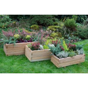 Image for Forest Durham Rectangular Planter - Set of 3