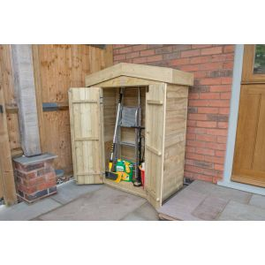 Image for Forest Pressure Treated Apex Garden Store - 3.6ft x 4.6ft