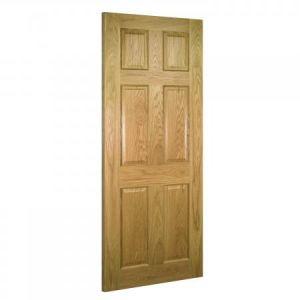 Image for Deanta Oxford Interior Oak Door -