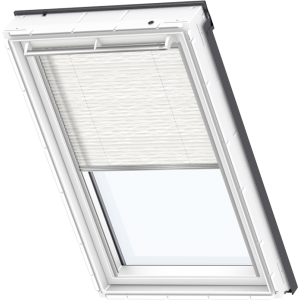 Image for Velux Electric Pleated Blind Wavy White - FML 1257