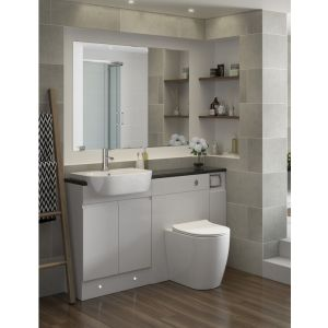 Image for Verona Suite complete with Back to Wall WC and 1TH Semi Recessed Basin