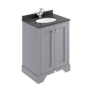 Image for Bayswater Plummett Grey 600mm 2 Door Basin Cabinet