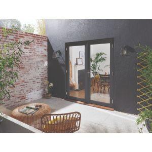 Image for JELD-WEN Grey Fully Finished Bedgebury Grey French Patio Doorset