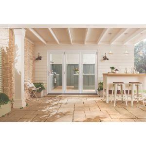 Image for JELD-WEN White Fully Finished Bedgebury White Folding Patio Doorset