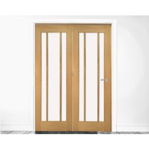 Deanta Prefinished Oak Bifold Room Divider Frame