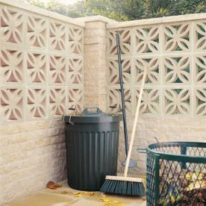 Image for Bradstone Screenwall Leaf Block Off White