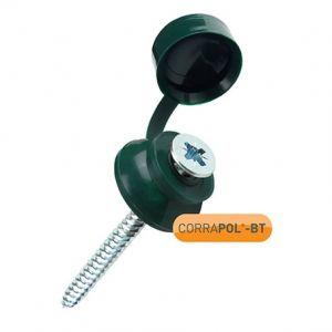 Corrapol-BT Green 60mm Screw Cap Fixings (Pack Of 10)