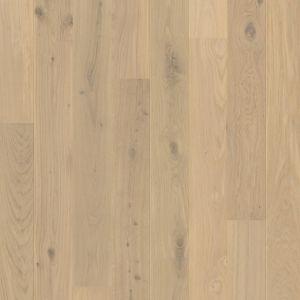 Quickstep Compact Oak Cotton White Matt Engineered Wood Flooring 1.58m2