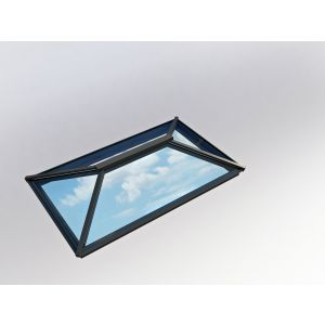 Image for Atlas Contemporary Roof Lantern Window Active Blue Double Glazed - Black