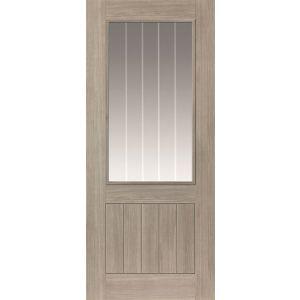 Image for Cotswold Glazed Grey Internal Door Cottage Laminate