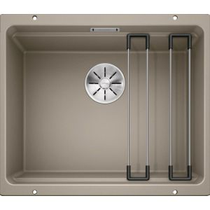 Image For Blanco Kitchen Sink Etagon 500-U Silgranit® Puradur® Tartufo - BL468145