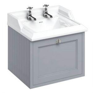Burlington Wall Hung 65 Single Drawer Vanity Unit & Classic Basin 2TH- Classic Grey
