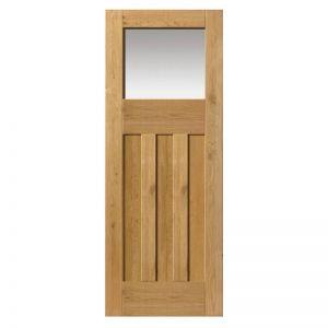 Image For JB Kind Pre-Finished Rustic Oak DX Glazed Internal Door - 1981 x 762 x 35mm