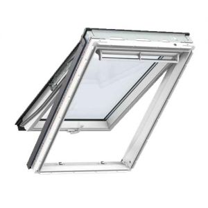 Image for VELUX White Painted GPL UK04 2066  Pine Top Hung Window Triple Glazed - 134cm x 98cm