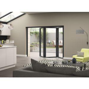 Image for JCI Grey Aluminium Pre Finished External 3 Bifold Doors Left Opening