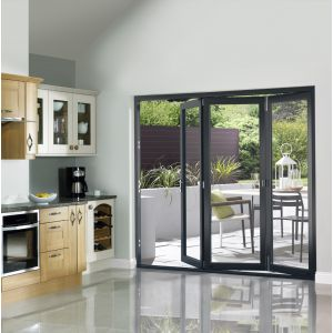 Image for JCI Grey Pre Finished External Slimline 3 Bifold Doors - 2090mm x 1790mm