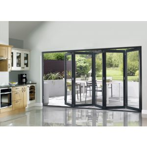 Image for JCI Grey Pre Finished External Slimline 5 Bifold Doors - 2090mm x 3590mm