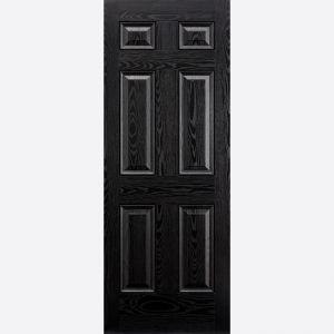 Image for LPD GRP Colonial 6 Panel Black Exterior Door