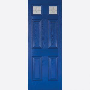 Image for LPD GRP Colonial Light Blue 2 Top Lite Glazed Exterior Door
