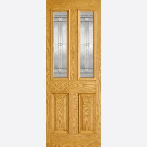 Image for LPD GRP Malton Oak 2L Glazed Exterior Door