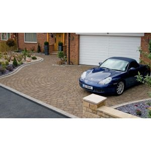Image for Marshalls Drivesett Tegula Hazelnut Concrete Block Paving
