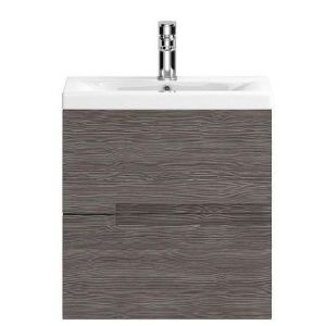 Hudson Reed Urban Wall Hung Vanity Unit and Basin 505mm Wide Grey Avola 1 Tap Hole
