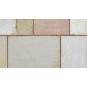 Marshalls Indian Sandstone Paving Buff Multi