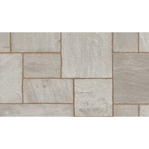 Marshalls Indian Sandstone Paving Grey Multi