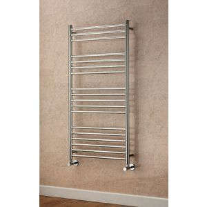 Image for Supplies 4 Heat Lanark Straight Towel Rail 500mm Wide - Polished Stainless Steel