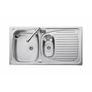 Image for Leisure Euroline EL9502 1.5 Bowl 1TH Stainless Steel Inset Kitchen Sink