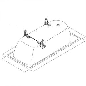 Image for Kaldewei 5037 Adjustable Bath Feet Set
