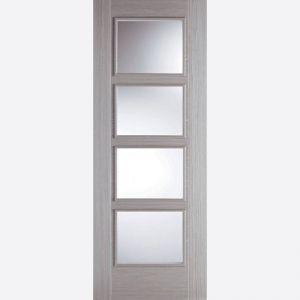 Image for LPD Vancouver Light Grey 4 Lite Glazed Internal Fire Door