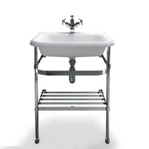 Image for Clearwater Traditional Basin with Washstand 650mm W x 880mm H - 0 Tap Hole