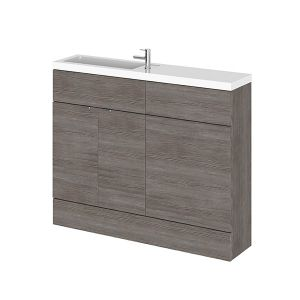 Image for Hudson Reed Compact Combination Unit with Slimline Basin - 1102mm Wide - Grey Avola 1 Tap Hole