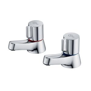 Image for Ideal Standard Alto Bath Pillar Taps Chrome