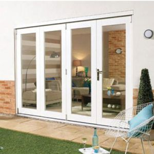 Image for LPD NuVu Folding External Door Set 3+1 Configuration, 3000mm Wide, Pre-Finished White