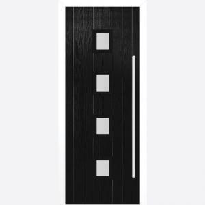 Image for LPD Milton Black Glazed Door Set