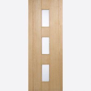Image for LPD Copenhagen Oak Frosted Double Glazed Exterior Door