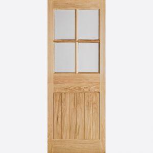 Image for Stable Door Oak Veneer LPD Glazed Cottage Exterior