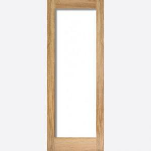 Image for LPD Pattern 10 Oak Clear Glazed Internal Door