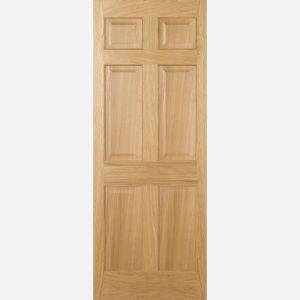 Image for LPD Regency Oak 6 Panel Internal Fire Door